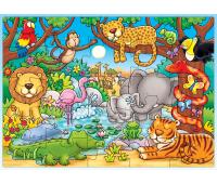 [Puzzle - nájdi zvieratko v džungli]