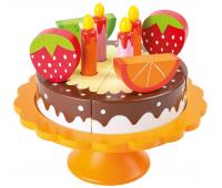 [Drevená narodeninová torta]
