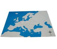 [Kontrolná mapa - Európa - bez popisu]