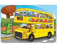 [Obojstranné puzzle - autobus]