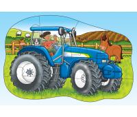 [Obojstranné puzzle - traktor]