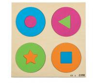 [Vkladacie puzzle - Kruhy a tvary]