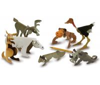 [Papierové sochy - Divé zvieratá (20 x 22,5 cm)]