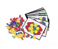 [Geometrické tvary z plastu s kartami úloh]