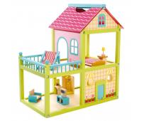 [Domček pre bábiky s terasou]