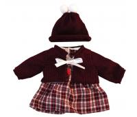 [Oblečenie pre bábiky - 38 cm - Károvaná sukňa, sada]