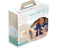 [Drevené magnetické kocky natural - 100 ks]