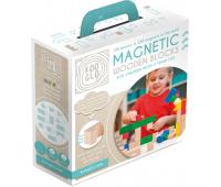 [Drevené magnetické kocky farebné - 100 ks]