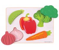 [Priraďovacie puzzle - Zelenina]