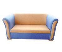 [Masívna sedačka pre dvoch modrá]