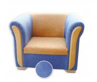 [Masívna sedačka pre jedného modrá]