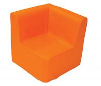 [Kresielko rohové - oranžové 30 cm]