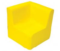 [Kresielko rohové - žlté 30 cm]