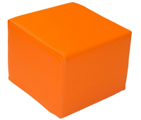 [Taburetka štvorec - oranžová 35 cm]