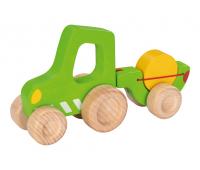 [Drevený traktor]