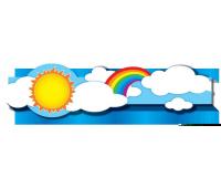 [Priestorová dekorácia - obruba Slnko a dúha]