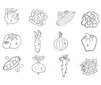 [Drevené pečiatky zelenina]