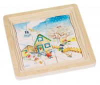 [Vrstvové puzzle - 4 ročné obdobia]