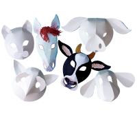 [Zvieratá z farmy - papierové masky]