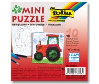 [Vyfarbi si puzzle! - Traktor (20 dielikov)]