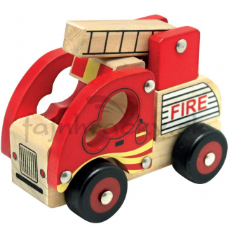 Drevené auto - Požiarnici