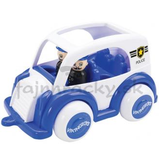 Policajné auto s dvomi figúrkami