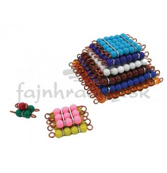 Korálkové štvorce (farebné)