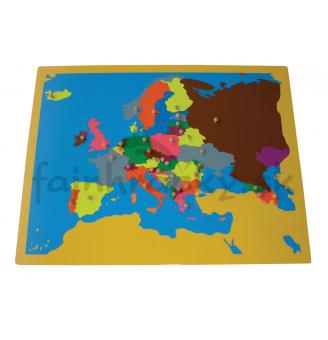Puzzle - mapa Európa