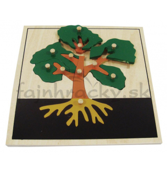 Vkladacie puzzle - Strom (24 x 24 cm)