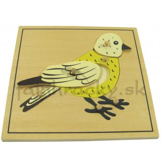 Vkladacie puzzle - Vtáčik