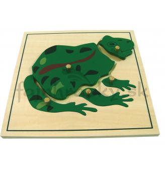 Vkladacie puzzle - Žabka