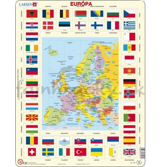 Glóbus v puzzle - Európa - slovenská verzia