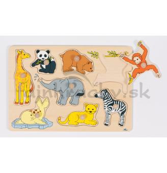 Vkladacia skladačka Zvieratá v ZOO 2
