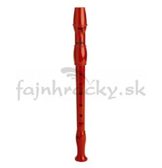Flauta plastová červená