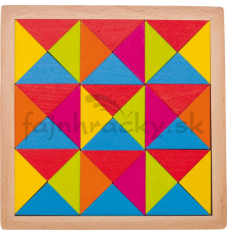 Drevená mozaika - Dúha