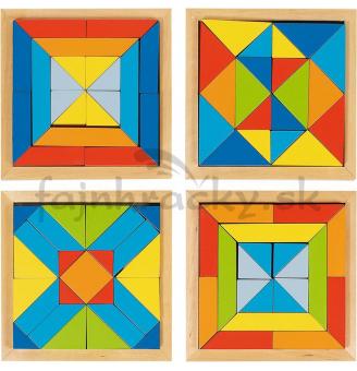 Mozaika svet tvarov - sada 4 ks