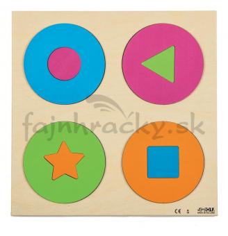 Vkladacie puzzle - Kruhy a tvary