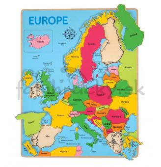 Vkladacie puzzle - Mapa Európy