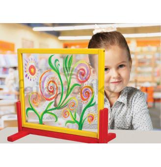 Stolový stojan na maľovanie s bezpečnostným sklom