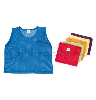 Rozlišovacie športové vesty - zo sieťoviny - S žltá