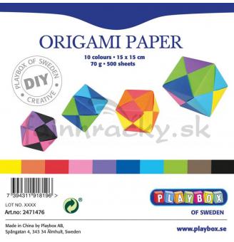 Papieriky na origami - 70 g/m2 - 500 ks (15 x 15 cm)