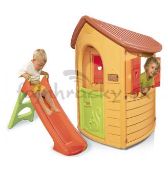 Smoby Záhradný domček so šmýkačkou