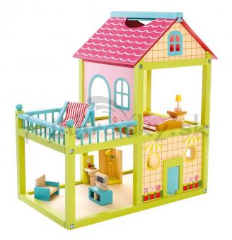 Domček pre bábiky s terasou