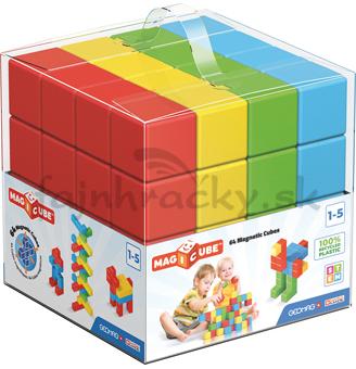 Geomag - Magicube - jednofarebné, 64 ks