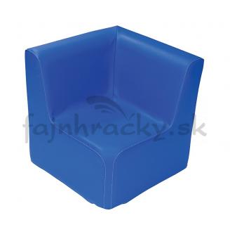 Kresielko rohové - modré 30 cm