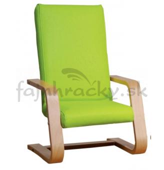 Exkluzívne kresielko zelené