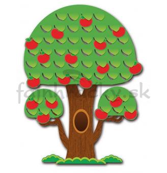 Strom s jabĺčkami - 3D