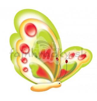 Dekorácia Motýliky 2 ks