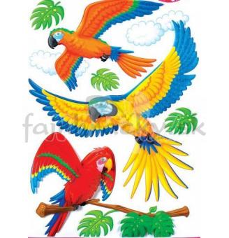 Nálepky - Papagáje