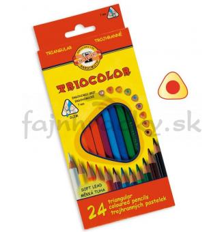 Farbičky trojhranné - 24ks